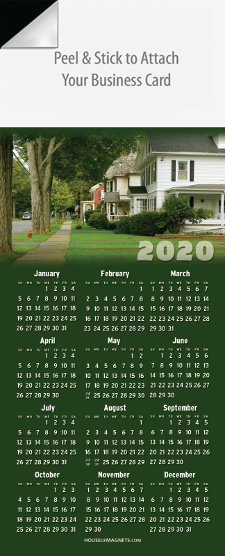 Picture of 2020 QuickStix Calendar Magnets - Tree-Lined Street