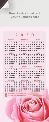 Picture of 2020 QuickStix Calendar Magnets - Rose Bloom Breast Cancer Cure