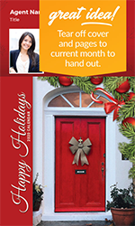 Picture of 2020 Custom Calendar Pad Magnets - Holiday Door