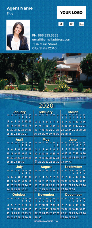 Picture of 2020 QuickCard Calendar Magnets - Poolside Living