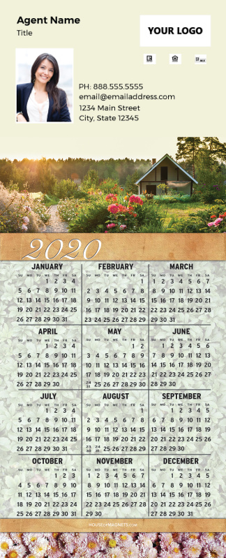Picture of 2020 QuickCard Calendar Magnets - Country Garden