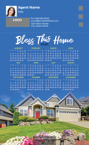 Picture of 2020 Custom Full Calendar Magnets: First Class - Bless This Home