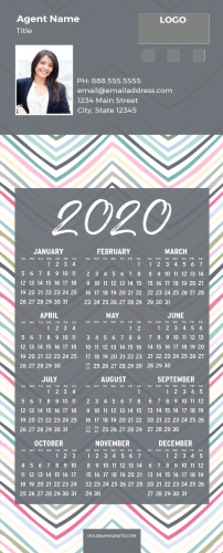 Picture of 2020 QuickMagnet Calendar Magnets - Rainbow Chevrons