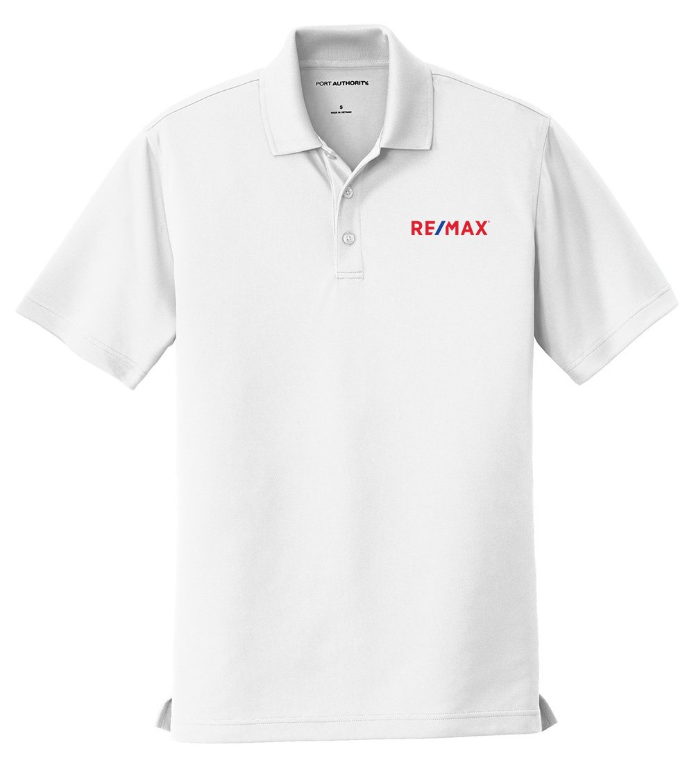 House of Magnets | REMAX FeatherLite Moisture Wicking Polo - Men's White