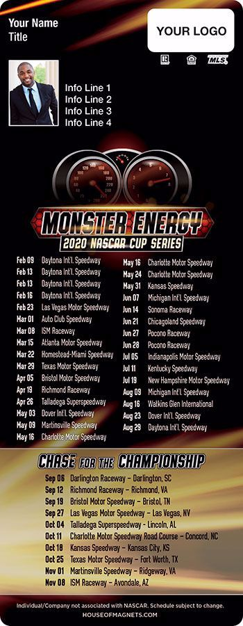 Picture of 2020 QuickMagnet NASCAR Schedule Magnets